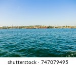 military navy ships in a sea... | Shutterstock . vector #747079495