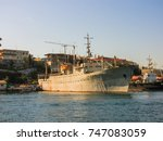 military navy ships in a sea... | Shutterstock . vector #747083059