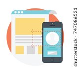 user interface design with... | Shutterstock .eps vector #747086521