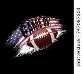 american football illustration... | Shutterstock .eps vector #747087301