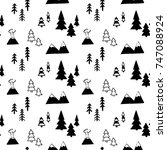 vector seamless pattern with... | Shutterstock .eps vector #747088924