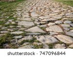 ancient road paved with... | Shutterstock . vector #747096844