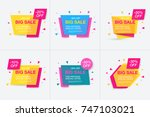 weekend sale banner  special...   Shutterstock .eps vector #747103021
