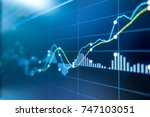 stock exchange market graph... | Shutterstock . vector #747103051