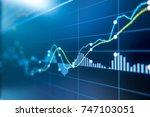 stock exchange market graph... | Shutterstock . vector #747103051