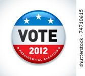 us presidential election in 2012 | Shutterstock .eps vector #74710615