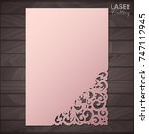 paper greeting card with lace... | Shutterstock .eps vector #747112945