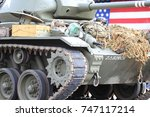 Military Tank In The Pared