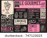 dessert menu for restaurant and ... | Shutterstock .eps vector #747123025