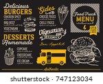 food truck menu for street... | Shutterstock .eps vector #747123034