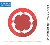 circular  arrows flat icon with ...