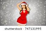 Santa Girl Shopping