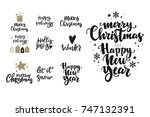 merry christmas and happy new... | Shutterstock .eps vector #747132391