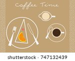 coffee time. place mat for... | Shutterstock .eps vector #747132439