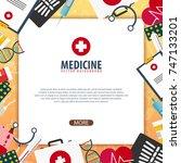 medical banner. health care.... | Shutterstock .eps vector #747133201