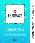 pharmacy. medical background.... | Shutterstock .eps vector #747137377
