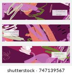 hand drawn creative universal... | Shutterstock .eps vector #747139567