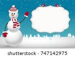 christmas template. night...   Shutterstock .eps vector #747142975