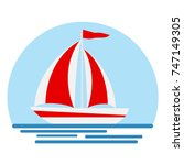boat with sails  boat icon....