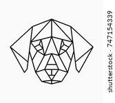 vector polygonal triangular... | Shutterstock .eps vector #747154339