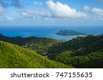 view from the top of el pico ... | Shutterstock . vector #747155635