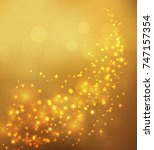 glow shine and snoflakes... | Shutterstock .eps vector #747157354