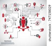 human resource   conceptual... | Shutterstock .eps vector #747158029