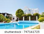 santorini island  greece.  | Shutterstock . vector #747161725