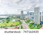 public residential condominium...   Shutterstock . vector #747163435