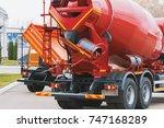 construction truck   concrete... | Shutterstock . vector #747168289