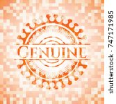 genuine orange mosaic emblem | Shutterstock .eps vector #747171985