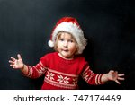 portrait of shocked and... | Shutterstock . vector #747174469