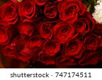 luxurious bouquets of roses for ... | Shutterstock . vector #747174511