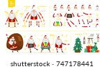 santa claus character  set for... | Shutterstock .eps vector #747178441