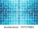 abstract blocks background.... | Shutterstock . vector #747179881