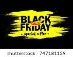black friday banner. black...   Shutterstock .eps vector #747181129
