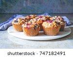 vegan gluten free oatmeal... | Shutterstock . vector #747182491