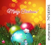 christmas and new year vector... | Shutterstock .eps vector #747183541