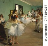The Dance Class  By Edgar Degas ...