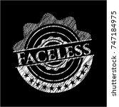 faceless chalkboard emblem | Shutterstock .eps vector #747184975