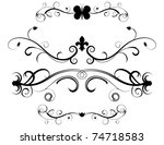 raster set of decorative page... | Shutterstock . vector #74718583