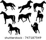 horses vector  | Shutterstock .eps vector #747187549