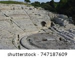 Above View Of Ancient Greek...