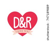 D And R Letter Inside Heart Fo...