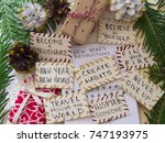 new year's resolutions | Shutterstock . vector #747193975