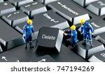 team of construction workers... | Shutterstock . vector #747194269