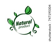 natural product logo | Shutterstock .eps vector #747195304