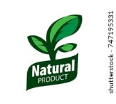 natural product logo | Shutterstock .eps vector #747195331