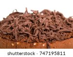 chocolate cake with decorative... | Shutterstock . vector #747195811