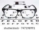 glasses lie on the table for... | Shutterstock . vector #747198991